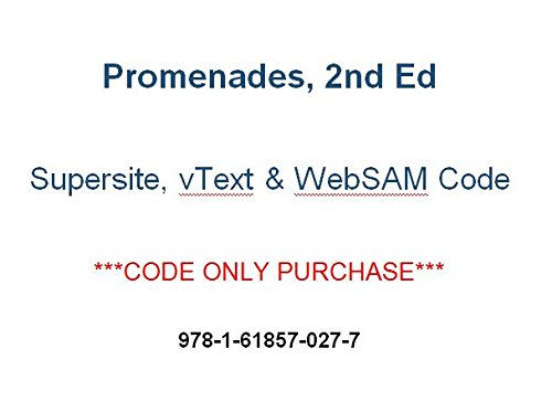 Promenades 2nd (2014) Supersite PLUS, vtext & webSAM CODE - CODE ONLY (2014-05-04)