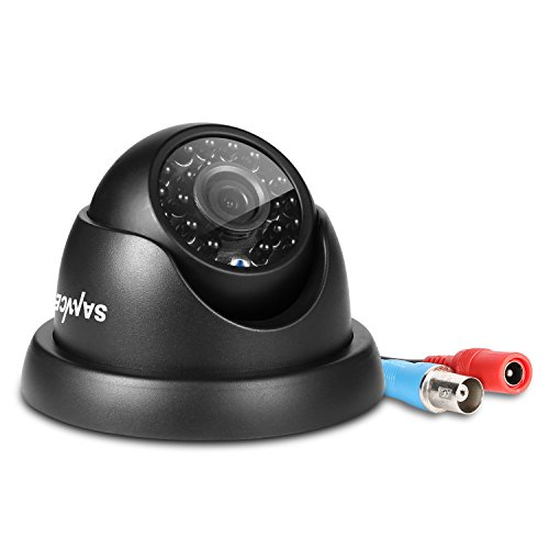 SANNCE AHD/TVI/CVI/CVBS 4-en-1 1080p Cámara Domo de Seguridad IP66 Cámara de Vigilancia CCTV Analógica Resistente al Agua Interiores y Exteriores Visión Nocturna de 100 pies - Cámara en Domo