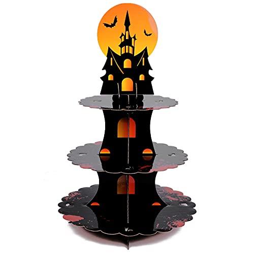Halloween Cupcake Stand 3-Tier,Black Cupcake Tower...