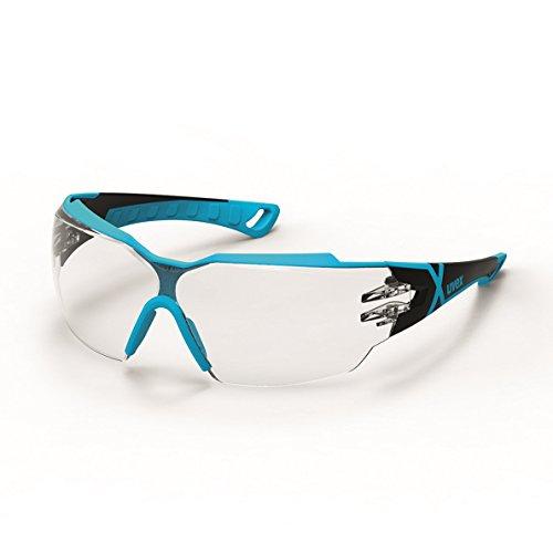 Uvex pheos cx2 Schutzbrille - Supravision excellence - Transparent/Blau-Schwarz