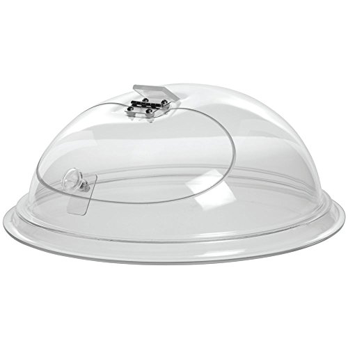 """Cal-Mil Clear Acrylic Self-Closing Door in Dome -12""""Dia x 7""""H"""