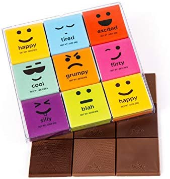 Moodibars Chocolate Candy Variety Pack 18 Gourmet Assorted Milk Dark Mini Samplers for Office product image