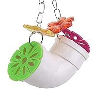 Sevenfly パロットスイングパイプ咀嚼玩具クリエイティブバードトイアクリルバイトストリングパロットインテリジェンストレーニング用品ケージアクセサリー