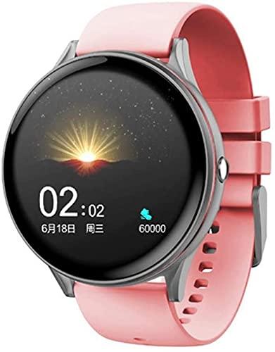 DHTOMC Adecuado para reloj inteligente femenino y masculino, con rastreador de actividad, con pantalla táctil a color de 1,3 pulgadas IP68 impermeable y múltiples modos deportivos-Rosa