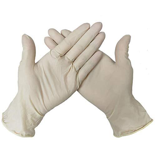 Gespout Gummi Nitril Einweg Schutzhandschuhe Schutzhandschuhe Lange Handschuhe Stulpen Industrie Starke Schutzhandschuhe Verschleißfeste Anti-Kontakt Handschuhe Box mit 100 Stück Glatt Weiß M