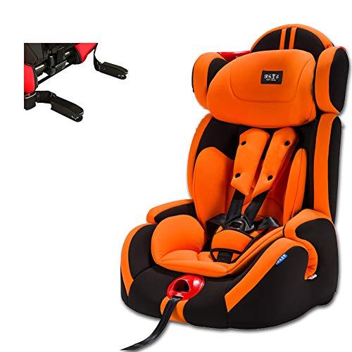 Cómodo asiento para automóvil para niños, asiento seguridad para niños con interfaz suave isofix para automóvil, Asientos coche realmente adecuados para niños de 12 años, naranja-ISOFIXinterfac