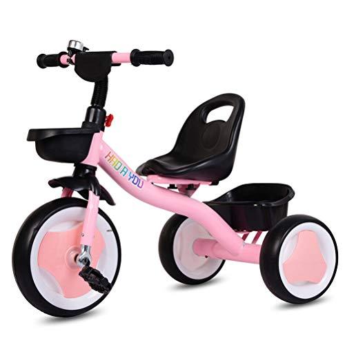 Kehyes Bicicleta de triciclo de 3 ruedas para bebé con campana para interior y exterior