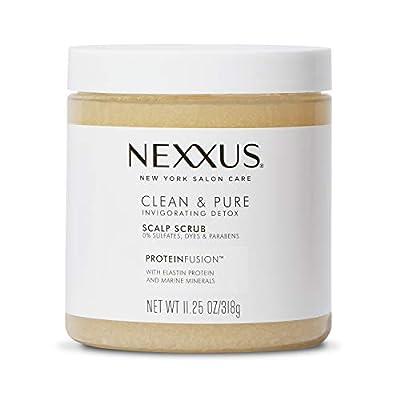 Nexxus Clean & Pure Sulfate-Free Scalp Scrub Exfoliating and Nourishing Hair Treatment Detox Hair Care 11.25 oz