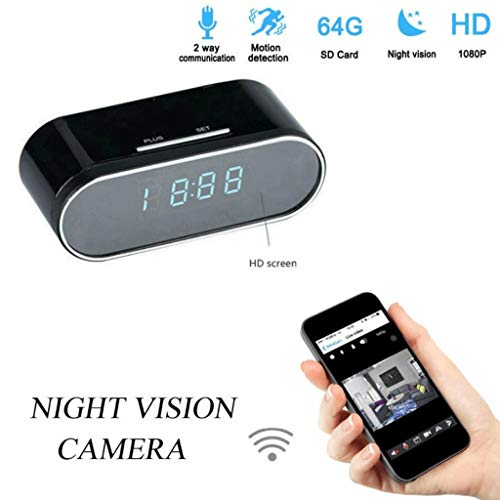 Love Lamp Bewakingscamera HD Micro WiFi IP Camera HD 1080P Horloge Mini Camcorder Video Recorder Wireless Security Digitale Camera Bewegingsherkenning Bewaking in huis