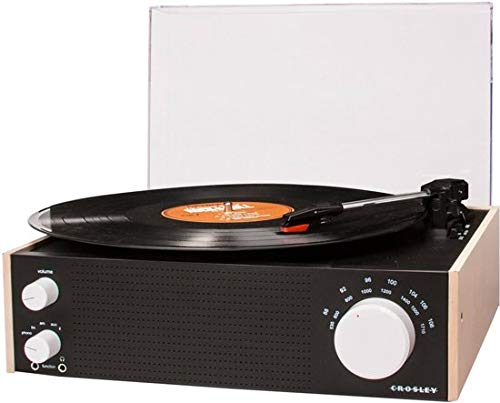 Crosley Switch Draadloze platenspeler met drie snelheden en geïntegreerde luidspreker en AM/FM-radio (UK-stekker) UK stekker naturel