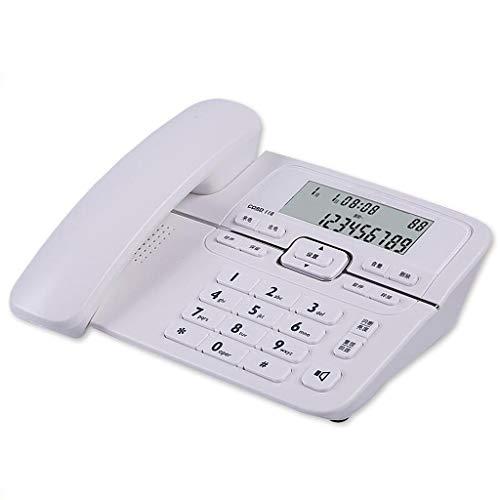 Unbekannt Festnetz Telefon Festnetztelefon Festnetztelefon Festnetztelefon Büro Geschäft (Color : White)