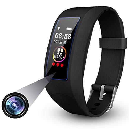 Fitness Armband Uhr Kamera, Touchscreen Versteckte Kamera 1080P Videoaufnahme Spionage Kamera, Spycam Armband Uhr, Überwachungskameras Pulsmesser Sportuhr mit Bluetooth-32GB