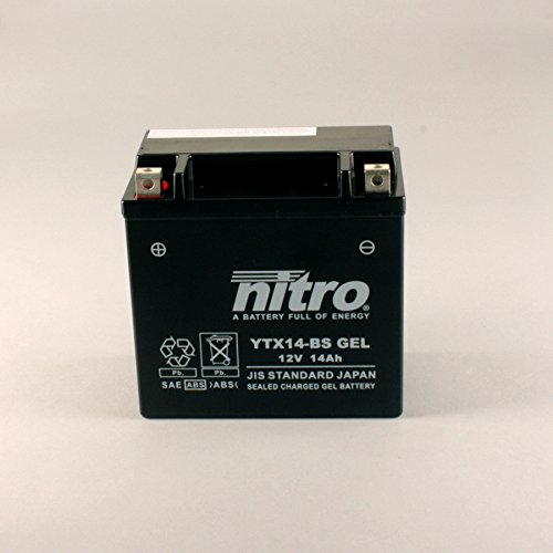 NITRO YTX14-BS GEL -N- YTX14-BS Gel AGM Geschlossen, Schwarz, Größe NA