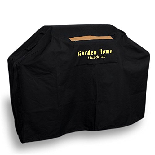 """Garden Home Heavy Duty 72"""" Grill Cover (BLACK, 70 INCH With Brush)"""