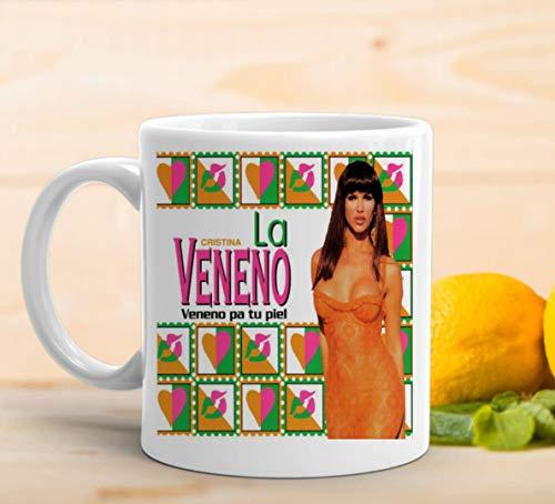 TAZA La Veneno Cristina Desayuno Regalo Cafe Veneno Regalo