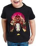 style3 Sin Rostro Camiseta para Niños T-Shirt Viaje de Chihiro Anime Manga, Talla:140