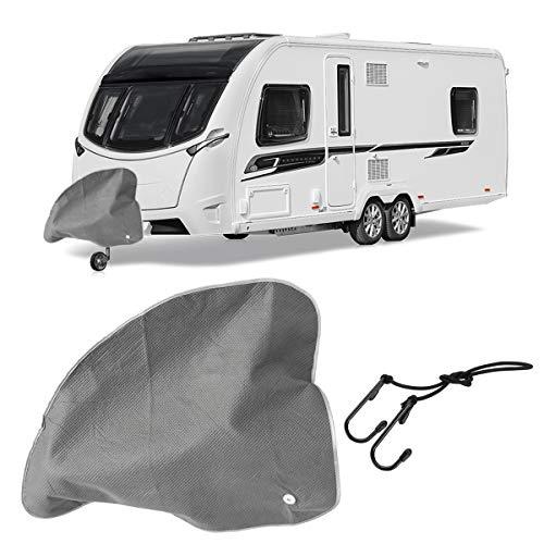 JenNiFer 83X63Cm Trekhaak Koppeling Lock Cover Waterdichte Beschermer Grijs Voor Caravan Trailer Auto