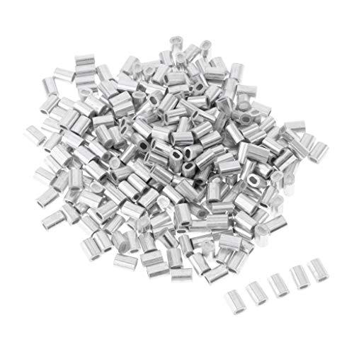 Fenteer 100x Quetsch-Hülsen Angeln Crimps für Stahlvorfächer Zum Hechtangeln, Zanderangeln & Barschangeln, Raubfischvorfach Bauen - 1,2 mm
