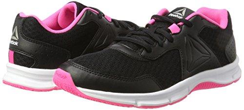 Reebok Women's Express Runner Training Running Shoes, Black (Black/Poison Pink/Pewter/White), 6 UK