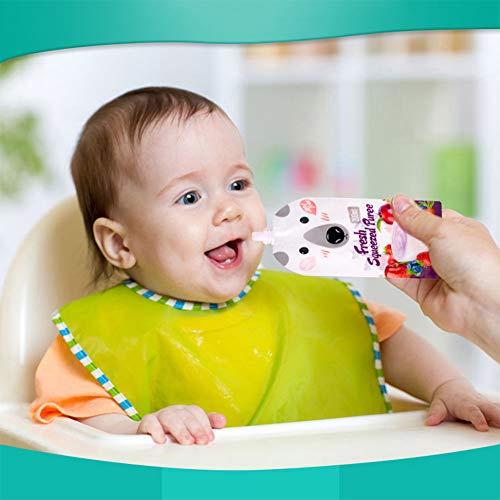 Denkerm 200ML Food Bag 8Pcs Juice Pouch, tragbare Babynahrungstasche, für Kitchen Home