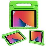 TNP Funda Compatible con iPad 8a 2020 / iPad 7a 10,2 2019, iPad Air 3a 10,5 2019 / iPad Pro 10,5 Pulgadas 2019, Carcasa Protectora de EVA con Asa Convertible y Soporte para Niños (Color Verde)