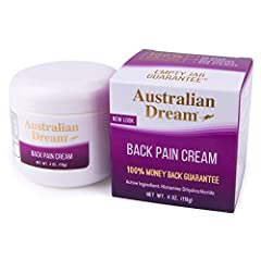 Helps find soothing back pain relief Australian dream back pain cream does not cause irritation Does not burn and contains no odor Helps find soothing back pain relief Australian Dream Back Pain Cream does not cause irritation Doess not burn and cont...