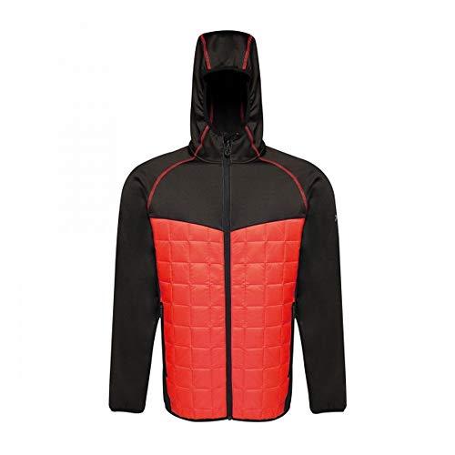 Regatta Herren Professional X-pro Modularer Extol Stretch Lightweight Hooded Insulated Hybrid Jacket Jacket XL Pfeffer/Schwarz