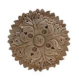 Natural Vintage Pintado de madera sin pintar floral de la flor de la esquina de...