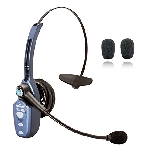 VXi Blueparrott B250-XTS Bluetooth Headset Bundle -203890 | Bonus Microphone Cushions | NFC Enabled | Windows PC and MAC Compatible - (B250-XTS w/Bonus Cushions)