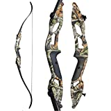 ZSHJGJR 56 Inch Takedown Recurve Bow and Arrow Set Archery Longbow Hunting Bow