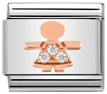 Nomination Women's Bead Charm Stainless Steel 430305/07