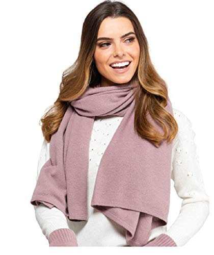 Kamea Bufanda de mujer 80% Lana/Macerata/Frascati/Gorycja etc, conjunto de invierno:rosa antiguo