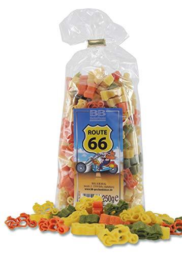 Bunte Motorrad-Nudeln Pasta Route 66 (250 g) aus deutscher Manufaktur