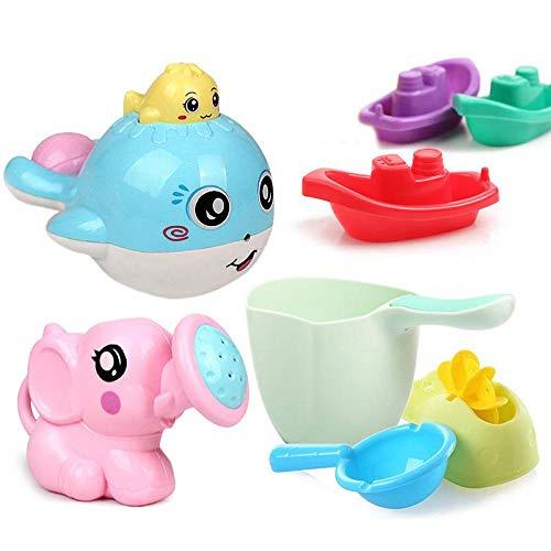 MENGYUAN Juego de 3 juguetes de baño con rociado de agua se utilizan para el baño del bebé
