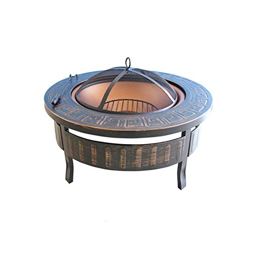 SMQHH Fire Pits,Outdoor Fire Tables,Charcoal Barbecues Fire Pit Bowl Barbecue Grill Charcoal Outdoor Camp Carbon Stove Heating Brazier Home Barbecue Table