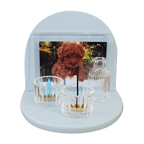 ミニ 仏壇 セット メモリアルステージ 10点セット フルセット 虹のかなた ペット供養 (ブルー)