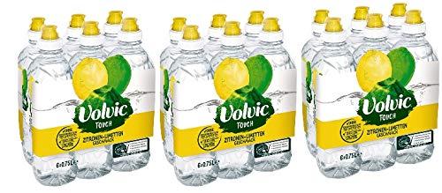 Volvic Touch Zitrone Limette Sportscap 18 x 0,75l inkl. 4,50 € EINWEG Pfand (18x0,75L)
