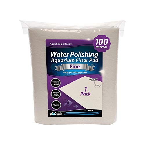 """Polishing Filter Pad 100 Micron - 1 Pack -Superior Aquarium Prefilter Media - Cut to Fit 24"""" by 36"""" for Fresh Water & Saltwater Fish Tanks, Aquaculture, Hydroponics - Made in USA"""