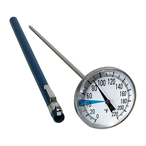 "Stainless Steel Soil Thermometer by Smart Choice| 127mm Stem, Easy-to-Read 1.5"" Dial Display, 0-220 Degrees Fahrenheit Range 