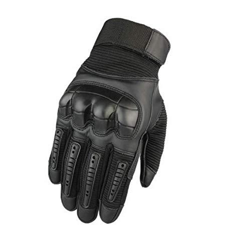para Todas Las Estaciones Guantes cálidos Impermeables y con Pantalla táctil para Todos los Dedos Guantes de Nailon para Motocicleta y Trabajo al Aire Libre Negro Talla L