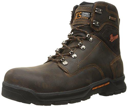 Danner Men's Crafter 6 Inch Non-Metallic Toe Work Boot, Brown, 11 EE US