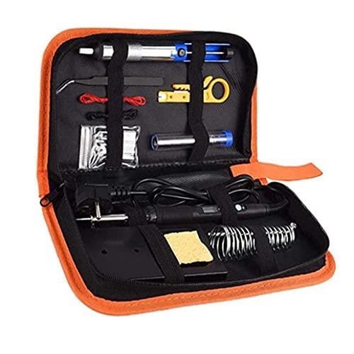 Kit del soldador de temperatura ajustable 60W Pantalla LCD digital con soporte Consejos Pinzas Bomba desoldadura