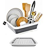 DLD Collapsible Dish Drainer with Drainer Board - Foldable Drying...