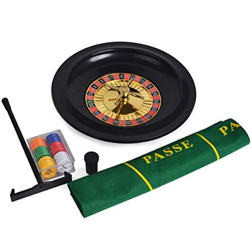 Asolym Roulette Wheel Set, 10-Zoll-Luxury Roulette Spiel Set, Spaß Freizeit Unterhaltung Tischspiele Für Erwachsene Kinder, Roulette Poker Black Jack Craps hat Chips Mats Dices Karten