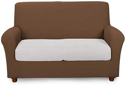 Caleffi Funda elástica para sofá de 2 plazas de algodón, Modelo Moka 51227