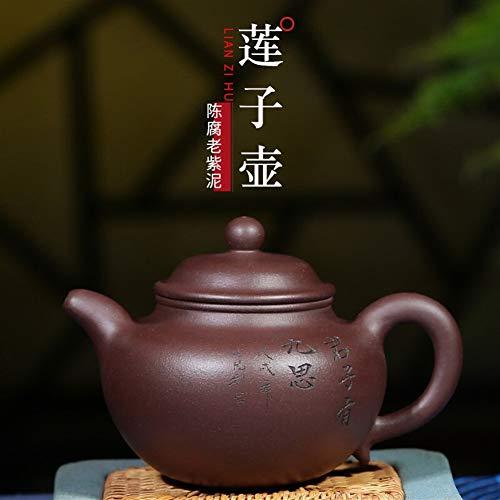 HuiQing Zhang Teekanne Erz echtes altes klassisches Lila Ton Topf Topf Lotus Typ Lila Schlamm