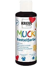 Kreul - Mucki knutselverf voor kinderen, kinderverf op waterbasis, parabenvrij, glutenvrij, lactosevrij en veganistisch, uitwasbaar, schilderbaar met kwast en spons.