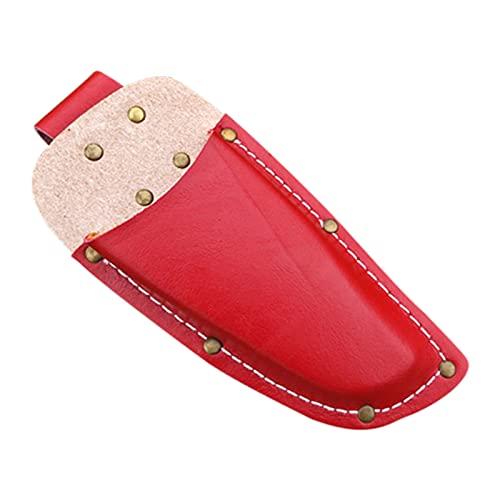 Herramientas de cuero Herramientas de herramientas Equipo Bolsa de herramientas de cintura con bolsillo portátil 7.09in accesorio herramienta de caja suave organizador rojo marrón ( Color : Red )