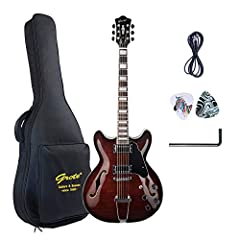2020 NEW PRODUCT FROM GROTE Laser Security Trademark & Metal truss rod cover Full Scale size & Set-in Neck Controls: 2 Volume/ 2 Tone/ 3-Way Toggle Thicken cotton bag, Guitar Cable, Pick Sampler