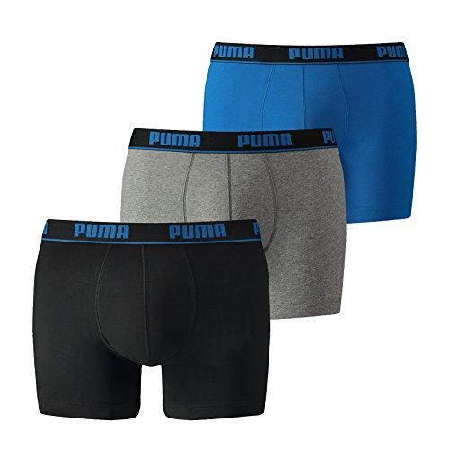 Puma Herren BOXER Shorts Pack DE 3 Boxer Promo, 3, Bleu (Blue/ Black), Large